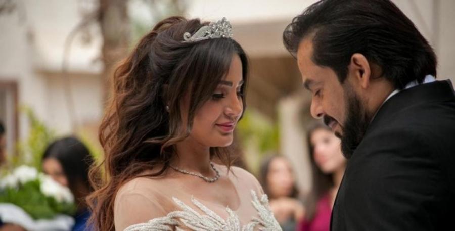 منذر رياحنة برقصة غريبة مع شيماء الحاج.. ما حقيقة زواجهما..فيديو